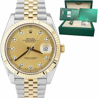 $ CDN17064.35 • Buy 2017 BOX PAPERS Rolex DateJust 41 126333 Champagne Two-Tone 41mm Jubilee Watch