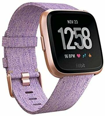 $ CDN199.51 • Buy Fitbit Versa Special Edition Smart Watch, Lavender Woven, One Size (S & L...