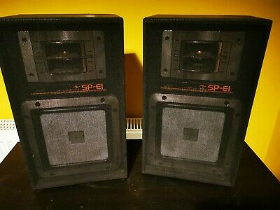 AU71.77 • Buy Vintage Jvc Sp-e1bk Hifi Stereo Stack System Speakers 8 Ohm 80 Watt