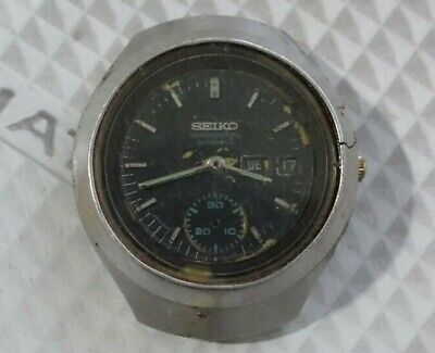 $ CDN156.92 • Buy Seiko Helmet 6139-7100 Automatic Chronograph Watch For Parts/Repair AS IS.,