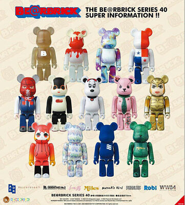 $169 • Buy BE@RBRICK (Bearbrick) Series 40 Complete With 1:192 Toyota Secret 100% Medicom