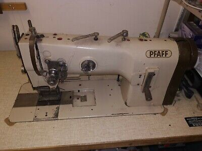 Pfaff Industrial Twin Needle Sewing Machine Ideal For Tape Headed Curtains • 413£