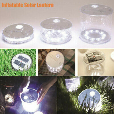 AU19.90 • Buy Solar Power Inflatable Lantern Lamp LED Camping Hiking Outdoor Tent Light