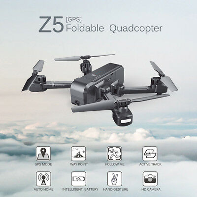AU177.54 • Buy  Z5 1080P HD Wide-angle Camera Wifi FPV Drone GPS Foldable RC Quadcopter Drone