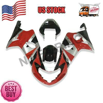 $469.99 • Buy Fit For 2000 2001 2002 Suzuki GSXR 1000 Plastic Injection Red ABS Fairing A015