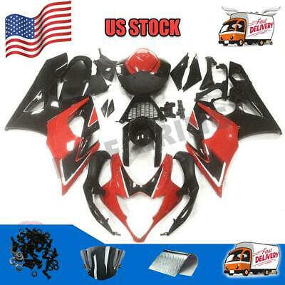 $469.99 • Buy Fit For Suzuki 2005-2006 GSXR 1000 Injection Mold Red Fairing Kit A008