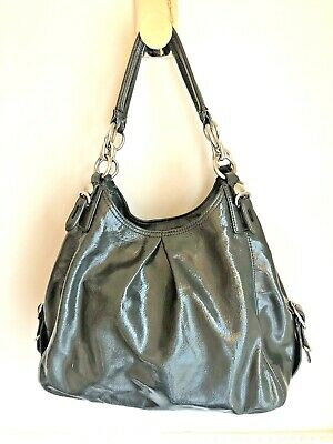 £72.02 • Buy COACH Madison Mia Maggie Gray Taupe Patent Leather Shoulder Bag Purse 15734