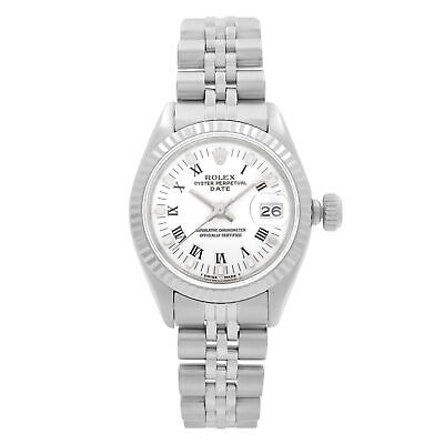$ CDN3448.30 • Buy Rolex Datejust 18k White Gold Steel White Dial Automatic Ladies Watch 6917