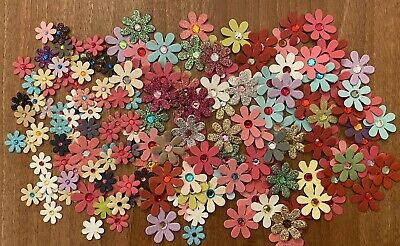 £2.99 • Buy Craft Embellishments Card Toppers Flowers X170 Assorted