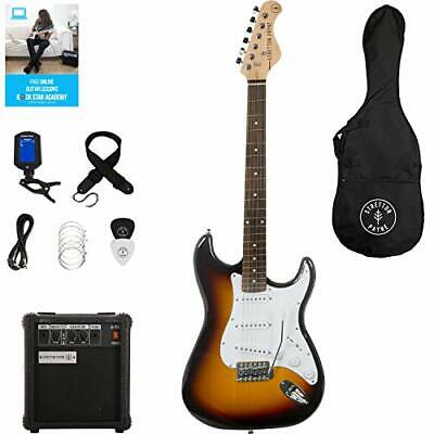 AU504.88 • Buy ST Electric Guitar Package With Practice Amp, Padded Bag, Strap,