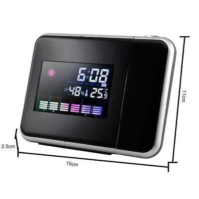 AU18.50 • Buy Mini LCD Digital Projector Snooze Alarm Clock Projecting Weather Station Temp
