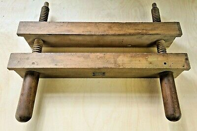 An Old Wooden Book-binding Press Or Lying Press Russell • 36£