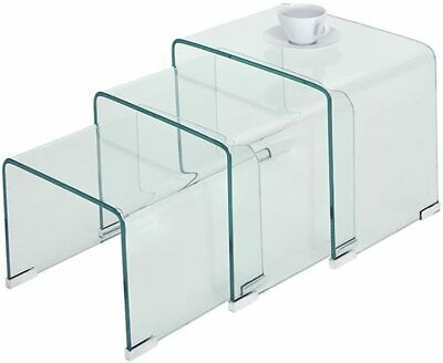 Nest Tables Set Of 3 Glass Side Coffee Table • 117.99£