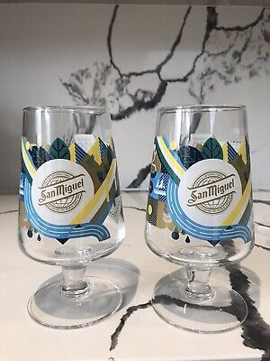 £15.99 • Buy 2x San Miguel 2020 Limited Edition  Cascada Chalice Pint Glasses