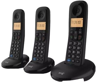 BT Everyday Trio Digital Cordless Telephone & Nuisance Call Blocker & Caller ID • 24.99£
