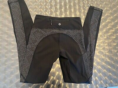 $ CDN25.11 • Buy Lululemon Size 2 Leggings New Without Tags Black With  Dots