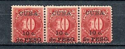 AU54.55 • Buy 1899 3 POSTAGE DUE STAMPS OF THE USA SURCHARGED, 10c ON 10c