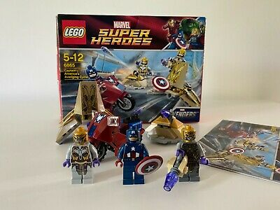 LEGO Marvel Super Heroes Captain America's Avenging Cycle 6865 With Minifigures • 10£