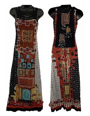 AU327.65 • Buy Save The Queen RARE Double Layer Sheer Long Dress Multi Print Patchwork Size S
