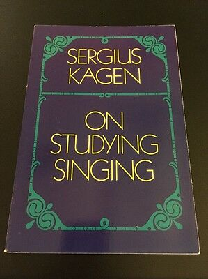 AU2.61 • Buy Dover Books On Music: On Studying Singing By Sergius Kagen (1960, Paperback)