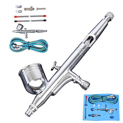 $26.49 • Buy 0.3mm Gravity Feed Airbrush Gun Set DUAL-ACTION Craft Paint Art Spray Gun Tattoo