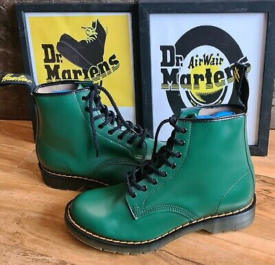 £200 • Buy Rare Hawkins 7207 Green Smooth Leather Boots Size 8 New Solovair Dr Martens Mie