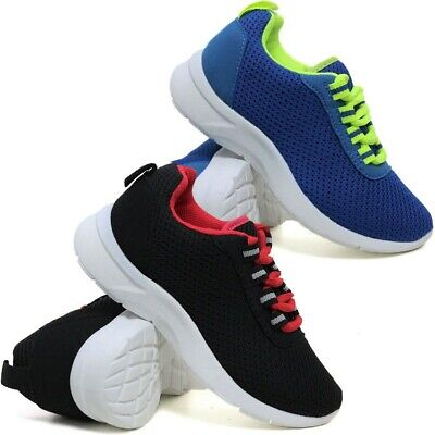 £9.95 • Buy Boys Running Trainers New Kids Girls Shock Absorbing Sports School Shoes Size