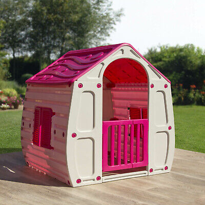 £69.95 • Buy Pink Childrens Playhouse Wendy House Magical Play House By Starplast