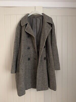 Cotswold Collection Ladies Grey Wool Mix Coat Size 16 • 9.99£