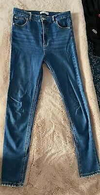 £6 • Buy Pull And Bear Jeans, Skinny Jeans, High Waisted Jeans, Size 10