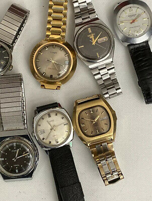 $ CDN432.35 • Buy Lot 7 Of VINTAGE Watch Automatic,winding Seiko & Other+FOR PARTs And Restoration