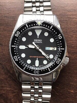 $ CDN470.76 • Buy Seiko SKX013 Men's Black Submariner Midsize Automatic Diver Watch 7S26-0030 38mm
