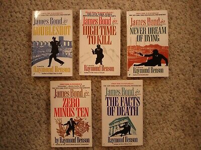 $19 • Buy Lot Of 5 Raymond Benson James Bond 007 PB's All Are 1ST/1ST 1998-2002 Unread