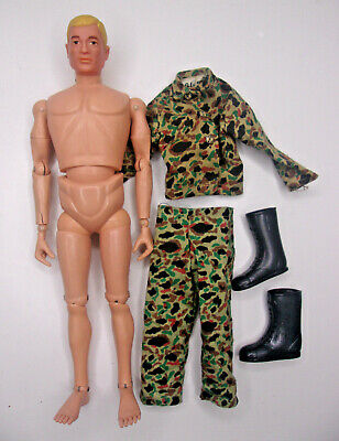 $ CDN23.22 • Buy Vintage 1964 GI Joe 60's Figure And Camo Clothing 12  AT Action Soldier Blonde