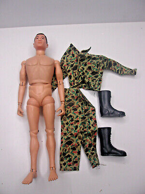 $ CDN18.20 • Buy Vintage 1964 GI Joe 60's Figure And Camo Clothing 12  AT Action Soldier Br Hair
