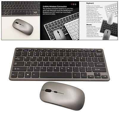 AU35.79 • Buy Wireless Gaming Keyboard And Mouse Combo 1600DPI For Home Office Laptop PC