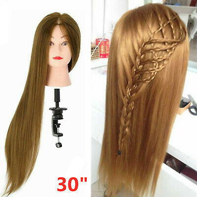 New 30  Salon Hair Training Head Hairdressing Styling Mannequin Doll + Clamp • 9.59£