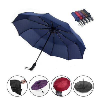 AU22.99 • Buy Compact Umbrella Automatic Fold Windproof Strong Travel Wind UV Resistance AU