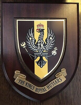 The Kings Royal Hussars Regimental Wall Plaque • 24.50£