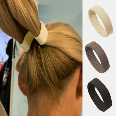 3 Colors Foldable One Wide Pony Band Clip Wide Pony Hair Band O Hair Tie Band UK • 3.99£