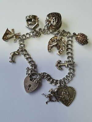 Vintage Silver Charm Bracelet With Charms  • 21.20£