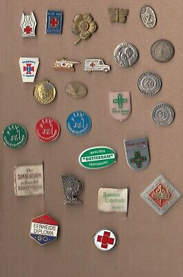 Vintage RED CROSS Pin Badges 1960 Blood Transfusion First Aid JOB LOT Collection • 2.50£