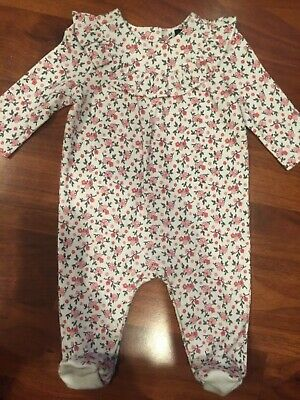 $16.99 • Buy 0 3 M Janie & Jack Ivory Pink Floral Footed Sleeper New Born Baby Girl NWT