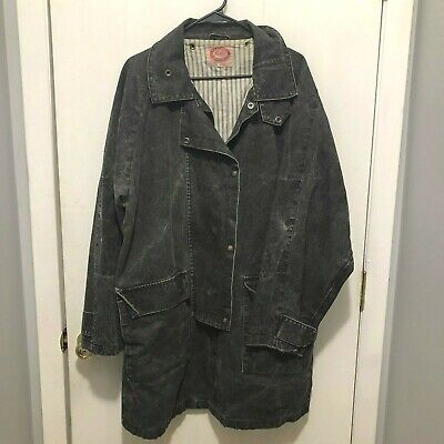 $49.99 • Buy Australian Outback Collection Vintage Duster Drover Coat Distressed Mens Large