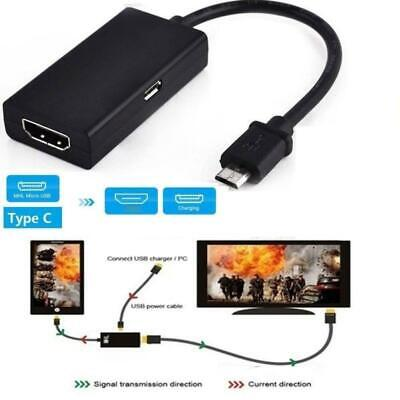 AU4.77 • Buy Universal MHL Micro USB To HDMI Cable HD 1080P Adapter For Android Phones  Sell