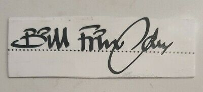 AU8 • Buy Bill Frindall Cricket Signed In Person Neat Cut Laid To Card England Ashes