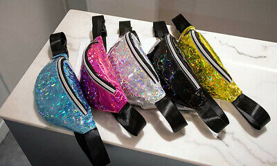 £4.99 • Buy Festival Bum Bag Shiny Fanny Pack Leather Pouch Holiday Wallet