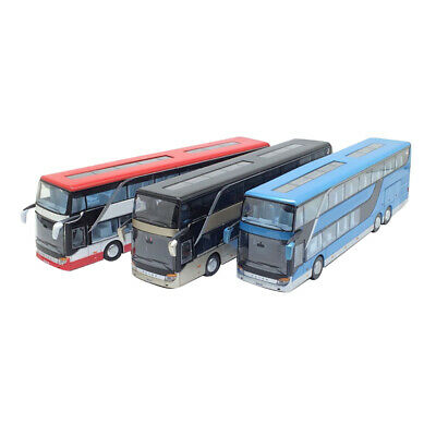 $ CDN31.89 • Buy 1PCS 1/32 Simulated Buses Toys Double Decker Bus Pull Back Model Kids Toy