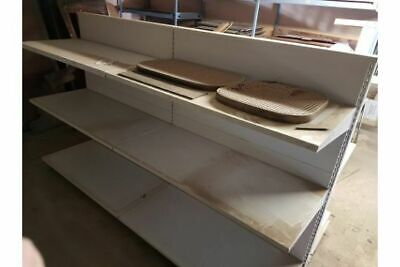 £100 • Buy Retail Racking Double Sided White Cantilever Two Metres - Good Condition - (7523