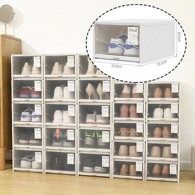 AU49.95 • Buy Shoe Display Cases Box Rack Stora Fordable Organizer Stackable Storage Dampproor